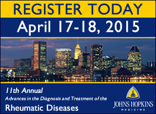 Register for the 2015 Rheumatology Conference at Johns Hopkins